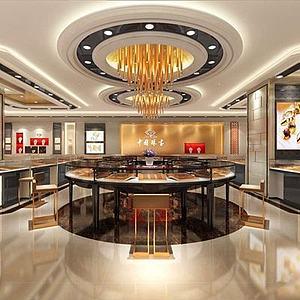 中國珠寶,珠寶店整體模型