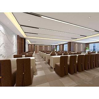 现代大型会议室整体模型