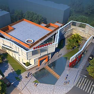 售楼处建筑整体模型
