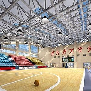 籃球館整體模型