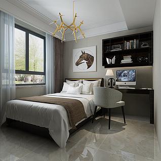 书房卧室3d模型