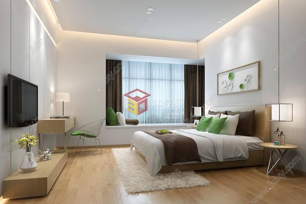 现代时尚简约卧室