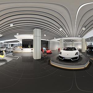 汽車銷售展廳全景整體全景模型