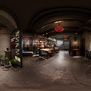 餐厅全景模型整体模型