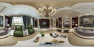 客厅全景模型3d模型