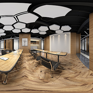 会议室全景模型3d模型