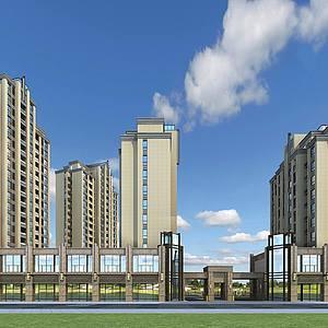 簡歐住宅整體模型