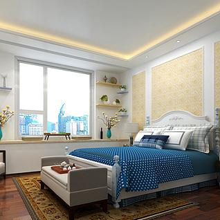简欧家装卧室设计3d模型