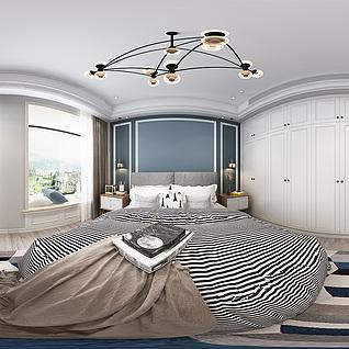 卧室全景模型3d模型