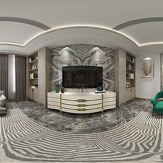 客厅全景模型整体模型