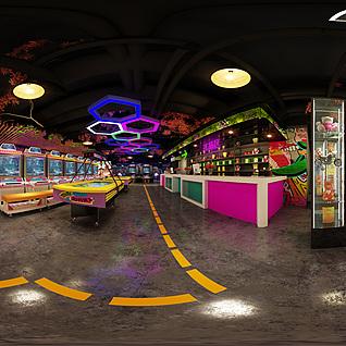 游戏厅全景整体模型