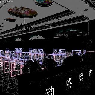 网咖全景整体模型