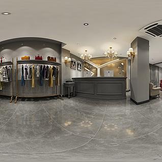 服装店全景模型整体模型