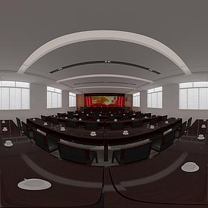 辦公室全景效果圖3d模型