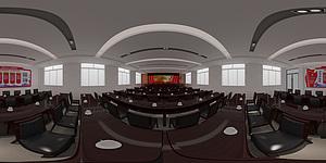 办公室全景效果图3d模型