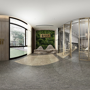 大厅全景模型整体模型
