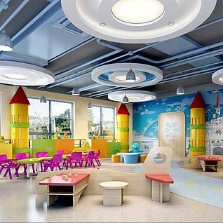 幼儿园儿童房装修设计3d模型