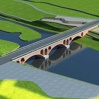 拱桥整体模型