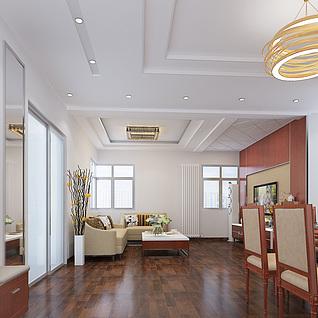 现代家装设计3d模型