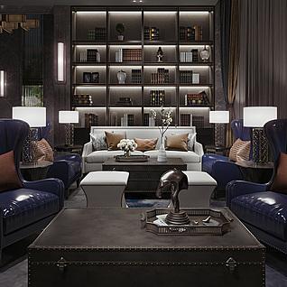 古典会客厅3d模型