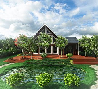 木平台水塘