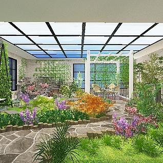 花园整体模型