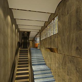 楼梯电梯整体模型