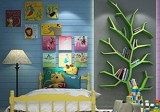 幼儿园儿童房装修设计工装模型