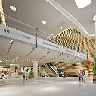 商场大厅整体模型
