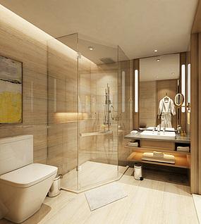 酒店卫生间家装模型