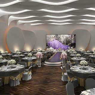 婚礼宴会厅整体模型