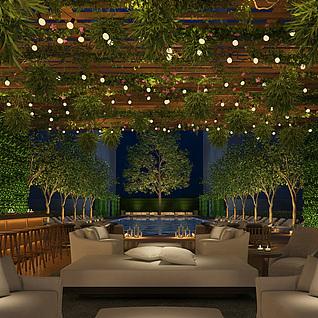 东南亚餐厅整体模型