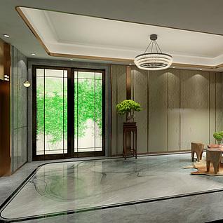 中式电梯间整体模型
