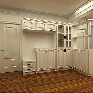 客厅入户柜3d模型