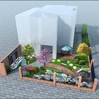 后院整体模型