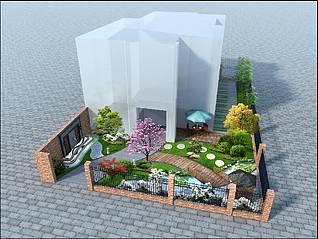 后院3d模型
