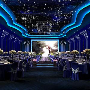 <font class='myIsRed'>婚礼</font>宴会厅模型整体模型