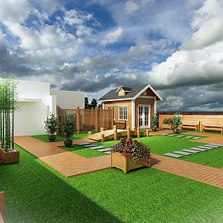 楼顶花园3d模型