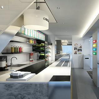 饮品店整体模型