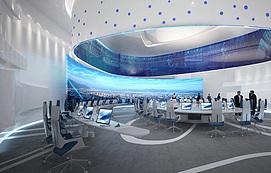 科技感会议室整体模型