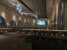 会议大厅模型整体模型