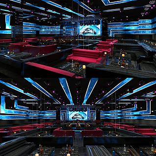 酒吧,KTV整体模型