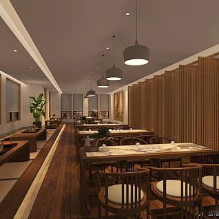 餐厅模型整体模型