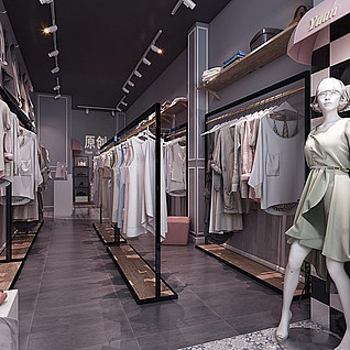 女装店整体模型
