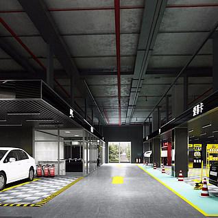 工业风4S店整体模型