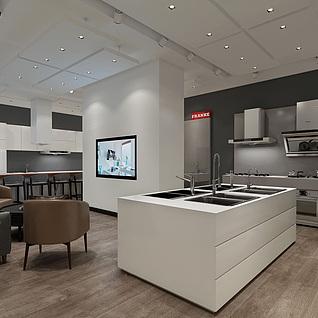 厨房设备专卖店整体模型