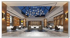 酒店大厅,电梯间,会议室,整体模型