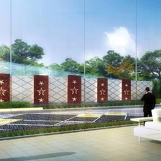 建筑规划鸟瞰透视3D模型整体模型