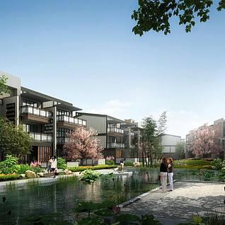 城市景观建筑鸟瞰3d模型效整体模型