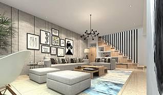 北欧风格家装模型3d模型